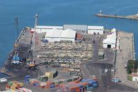 """Die """"Blaue Platte"""" im Hafen der türkischen Stadt Trabzon. Bild: Presse- und Informationszentrum der Streitkräftebasis"""