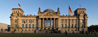 Reichstagsgebäude in Berlin, wo der Bundestag sitzt.
