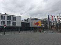 RB Leipzig: Eingang zum Trainingszentrum am Cottaweg