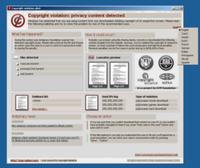 Raubkopien-Warnung mit Sprachwahl als Filesharer-Erpressung. Bild: F-Secure/M. Hyppönen