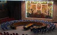 Sitzungssaal des Sicherheitsrates im UN-Hauptquartier in New York. Bild: Bernd Untiedt / de.wikipedia.org