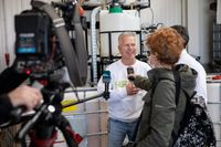 Erfinder Anton Ledwon im Interview mit dem SWR Bild: Heion GmbH Fotograf: Steffen Darr
