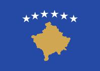 Flagge von Kosovo