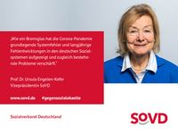 """Statement zum Thema Einsamkeit  Bild: """"obs/SoVD Sozialverband Deutschland"""""""