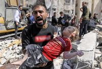 Tote Kinder im Gazastreifen nach dem Luftangriff der israelischen Armee.