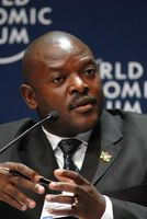 Pierre Nkurunziza am World Economic Forum on Africa in Kapstadt (2008)