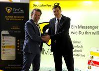 """Marco Hauprich und Jürgen Litz freuen sich über die gemeinsame Kooperation (v.l.n.r.). Bild: """"obs/cobra computer's brainware GmbH/cobra GmbH"""""""