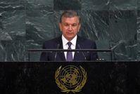 """Rede des Präsidenten Shavkat Mirziyoyev bei Vereinten Nationen in New York /  Bild: """"obs/GPRC German PR and consulting gr. GmbH/Pressedienst"""""""