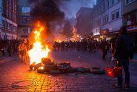 Auseinandersetzungen bei G20 Gipfel in Hamburg. Bild: Montecruz Foto, on Flickr CC BY-SA 2.0