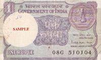 One-rupee banknote Bild:: wikipedia.org