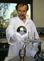 Silicium-Kugel für das Avogadroprojekt (Urkilo)
