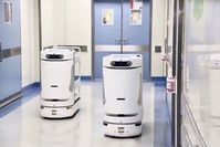 """Noah"": Roboter kann Medizin und Equipment transportieren. Bild: AsiaWire"