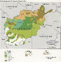 Vereinfachte Darstellung der Siedlungsgebiete der größten ethnischen Gruppen Afghanistans