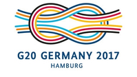 Kreuzknoten als Logo des G20-Gipfeltreffens in Hamburg 2017