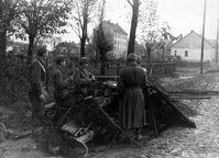 Ungarische Panzerabwehrkanone sichert eine Ausfallstraße von Budapest (November 1944)