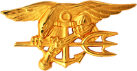 "Special Warfare Insignia oder ""SEAL Trident""."