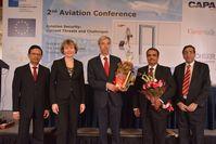 FH Frankfurt und UPES richteten die 2. Luftverkehrskonferenz in Mumbai zur Sicherheit im Luftverkehr Quelle: Quelle: FH FFM/MBA Aviation Management (idw)