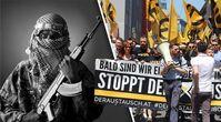 """Bild: Terrorist/Freepik; Demo/Presse IB; Bildkomposition """"Wochenblick"""" / Eigenes Werk"""