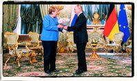 Angela Merkel und Wladimir Putin (2021)
