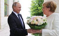 Angela Merkel und Wladimir Putin (2018)