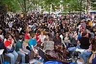Der besetzte Zuccotti Park Bild: David Shankbone / de.wikipedia.org