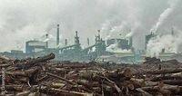 Zellstofffabrik des indonesischen Papierkonzerns APP Bild: Greenpeace