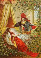 Dornröschen Illustration von Offterdinger