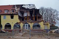 Zur Verdeckung zerstörte letzte Wohnung des NSU-Trios in Zwickau, Folgen der Explosion 2011