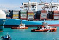 Containerschiff (Symbolbild)