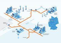 Das Projekt im Überblick: In Lingen (Emsland) erzeugt RWE über eine Elektrolyse grünen Wasserstoff.  Bild: Nowega GmbH Fotograf: GET H2