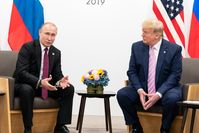 Putin and Trump at the G20 Osaka summit, June 2019