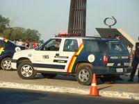 """Brasilien: Die """"Militärpolizei"""" (Polícia Militar) übernimmt die Aufgaben der deutschen Schutzpolizei."""