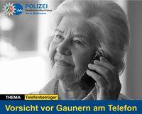 Vorsichts vor Gaunener am Telefon