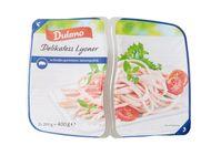 """Der Hersteller Hans Adler OHG informiert über einen Warenrückruf des Produktes """"Dulano Delikatess Lyoner, in Streifen geschnitten, 2 x 200 g"""". / Bild: """"obs/Lidl"""""""