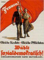 Gleiche Rechte Gleiche Pflichten: Dieser Wahlspruch ist längst hinfällig. Mittlerweile fordert die SPD die Unterdrückung von Männern.