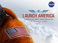 """Werbung der Nasa für """"Launch America"""". Bild: NASA"""