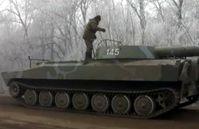 Ukrainische Selbstfahrlafette 2S1 nahe Debalzewe, Februar 2015