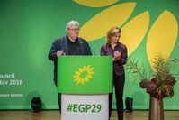 Reinhard Bütikofer und Monica Frassoni (2018)