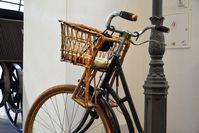 Historischer Fahrrad-Kindersitz (Verkehrsmuseum Dresden)