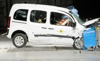 Große Sicherheitsmängel: Der Mercedes Citan holt nur 3 Sterne beim Euro NCAP-Crashtest. Bild: ADAC