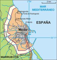 Karte von Melilla
