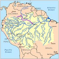 Lage und Verlauf des Rio Negro