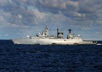 Fregatte BAYERN in See während SNMG