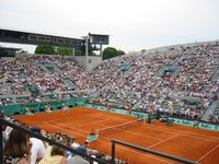French Open: Der Court A Suzanne Lenglen in Roland-Garros.