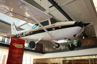 "Die Cessna 172 Skyhawk II ""D-ECJB"" im Deutschen Technikmuseum Berlin."