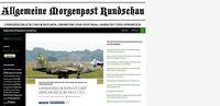 """Screenshot von der Webseite der """"Allgemeinen Morgenpost Rundschau"""""""