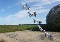 Startsequenz der neuen Wasserstoff-Drohne der TU Delft.