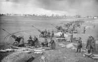 Sowjetische Artillerie bei Berlin, April 1945