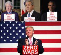 Donald J. Trump hat in seiner Amtszeit keinen einzigen Krieg auf der Welt begonnen - schlecht für die int. Kriegsindustrie.