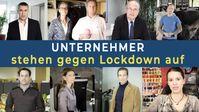 """Bild: Screenshot Video: """" Unternehmer stehen gegen Lockdown auf"""" (www.kla.tv/18031) / Eigenes Werk"""